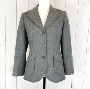 Pendleton Gray Button Down Blazer Jacket